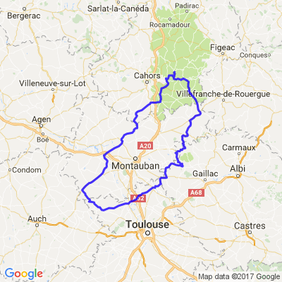 Gorges de l'Aveyron et Vallée du Lot