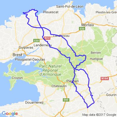 Côte des légendes, vers Meneham (nord Finistère)