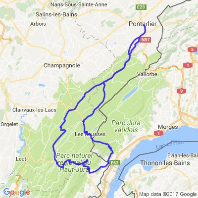 Circuit dans le Parc Naturel du Haut Jura depuis Pontarlier