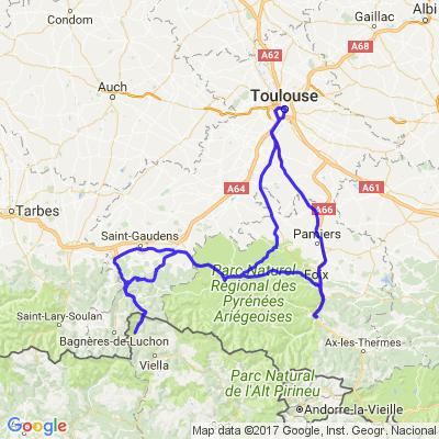 Toulouse (France) -> Bossost (Espagne) par les cols