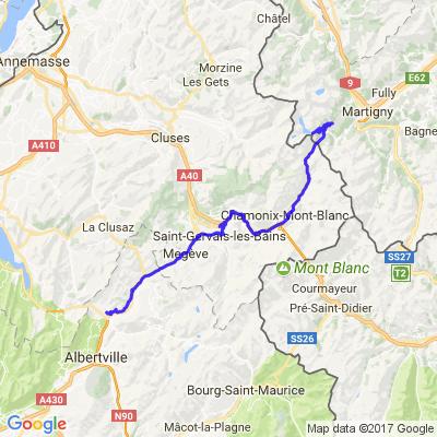 Barrage d'Emosson massif du Mont Blanc