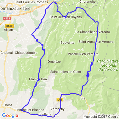 Boucle en Vercors Drôme