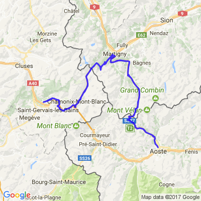 Passy - le col de Martigny - retour part Aosta.