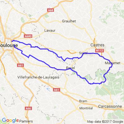 Toulouse / Montagne noire / Saint Férréol / Toulouse