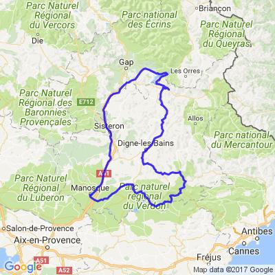 Boucle dans les Alpes-de-Haute-Provence via le Lac de Serre-Ponçon