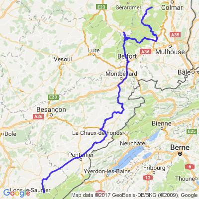 Ascension 2013 - Etape 3 : Le Jura - Le Ballon d'Alsace