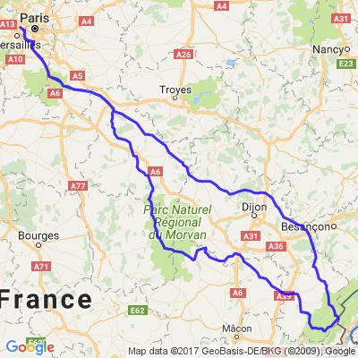 Paris - Morvan - Jura en 3 jours