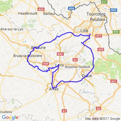 Béthune - Lens - Arras - Douai -- Au départ de Lille