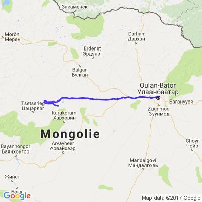 Balade moto en Mongolie