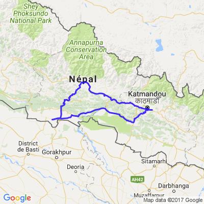 Randonée moto Népal