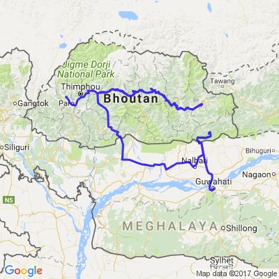 Randonée moto Bhoutan