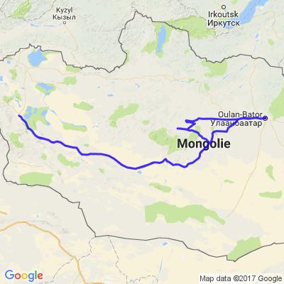 Raid moto en Mongolie