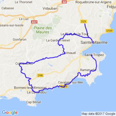 St Trop', le massif des Maures et Ste Maxime