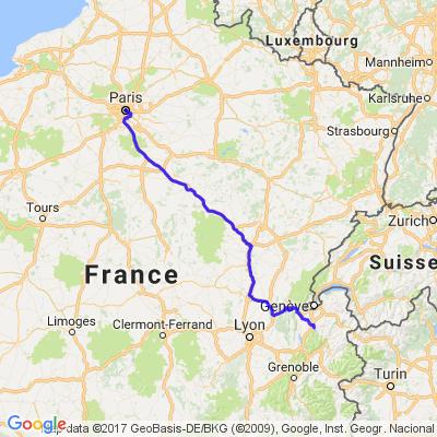 Direstion Annecy via autoroutes