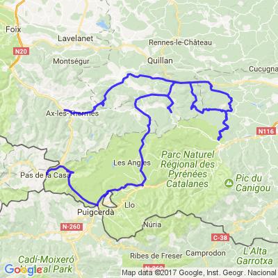 Pyrénées: Ax,Prades,Font Romeu,Pas de la Case