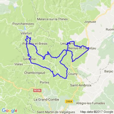 entre Ardèche, Gard, lozere.