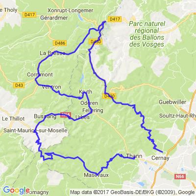 Les Ballons d'Alsace et la Route des Crêtes