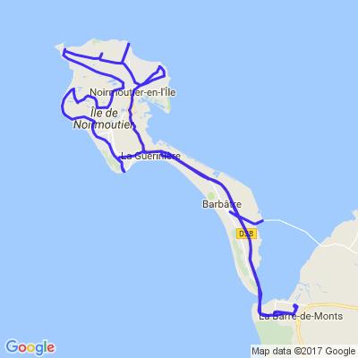 Tour de l'ile de Noirmoutier.
