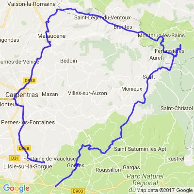 Autour du Mont Ventoux