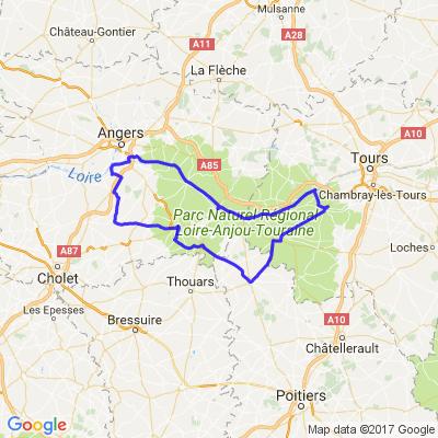 Bord de loire Angers-Saumur-Doue la fontaine