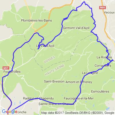 balade courte haute saône Vosges