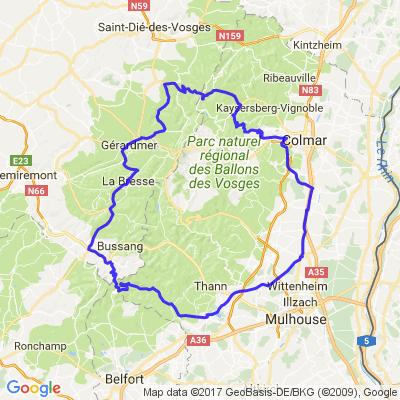 Boucle dans les Vosges du sud