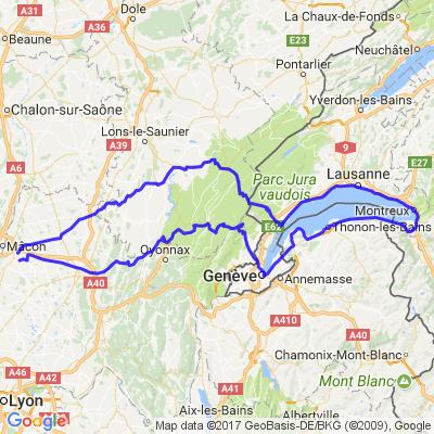 Tour du Lac Léman Septembre 2014