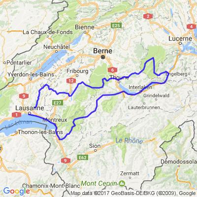 Virée en Suisse via Panoramastrasse