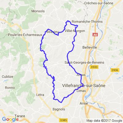balade 1/2 journée entre pierres dorées > vallée d'azergue > cru du beaujolais