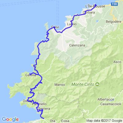Corse - calvi - porto par le bord de mer