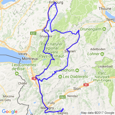Fribourg - Verbier - Fribourg