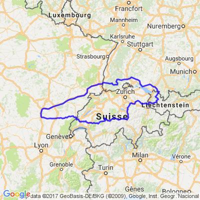 Entre France - Allemagne - Liechtenstein et Suisse