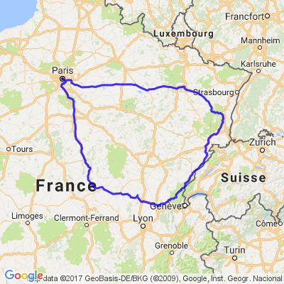 Tour du Jura et des Vosges au départ de Paris
