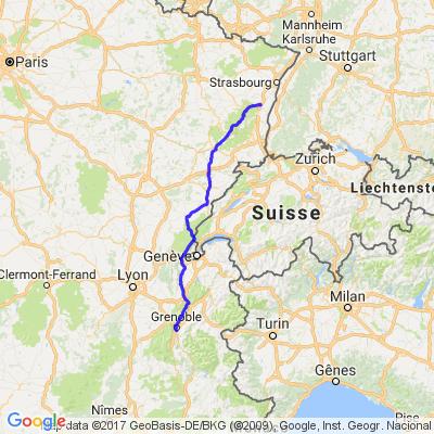 De Grenoble (Isère) à Scherwiller (Centre-Alsace Bas-Rhin)