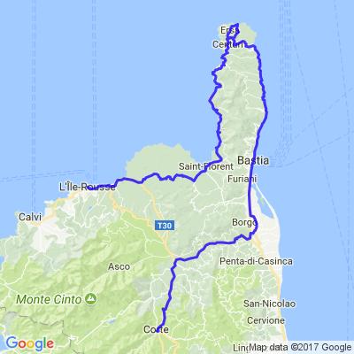 Corsica Tour 2015 J4 Corte L'Ile Rousse