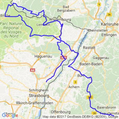 De la Forêt Noire aux Vosges du Nord crospof
