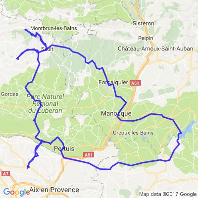 AIX en provence -Forcalquier  (via le mont ventoux) -Aix sur 2 jours
