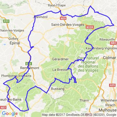 Franche comté - Vosges par des routes méconnues