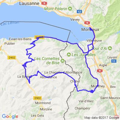 De Montreux à Montreux autour du Grammont