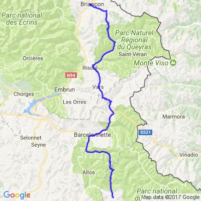 Les Grandes Alpes 2015 - Jour 2 - Saint-Martin d'Entraunes -> Briançon