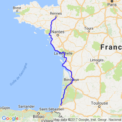 Bretagne Espagne road trip.