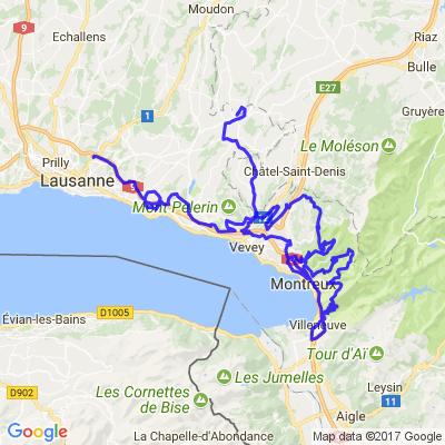 DOC's paradise road, région Montreux, Lac Léman. Suisse