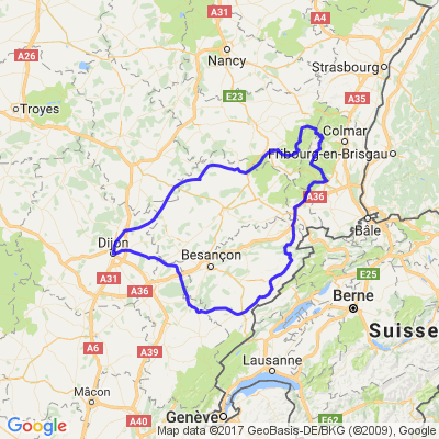 Boucle dans les Vosges et l'Est de la France au départ de Dijon