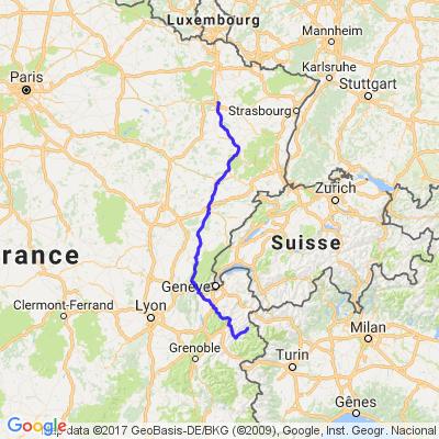 Bourg st Maurice- Nancy