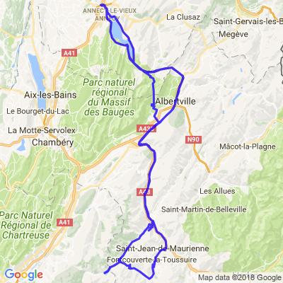 Annecy-Col du Glandon- St Sorlin et retour
