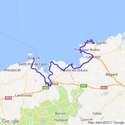 Bretagne nord (Roscoff (29) - Perros-Guirrec (22)