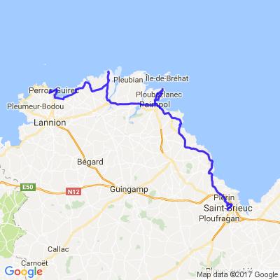 Bretagne nord (Perro-Guirec -Paimpol - St Brieuc)