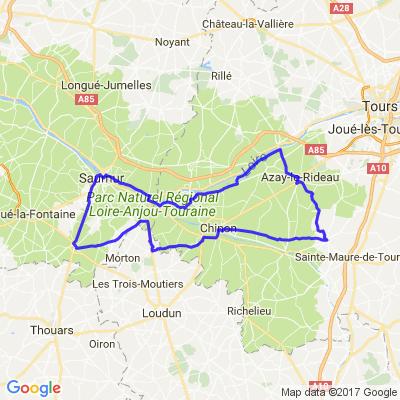 Entre Loire et Vienne, de Saumur à Azay-le-Rideau en passant par Chinon