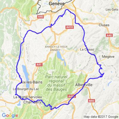 Circuit Chambery-Saleve-Aravis-Saisies-Chambery
