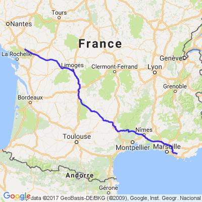 Sud Vendée vers Circuit du castellet